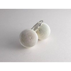 Sardinian jewels, filigree earrings, a fish hook fastening half sphere
