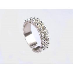 Anillo de bodas de Cerdeña, plata hecho totalmente a mano. Dos alambres