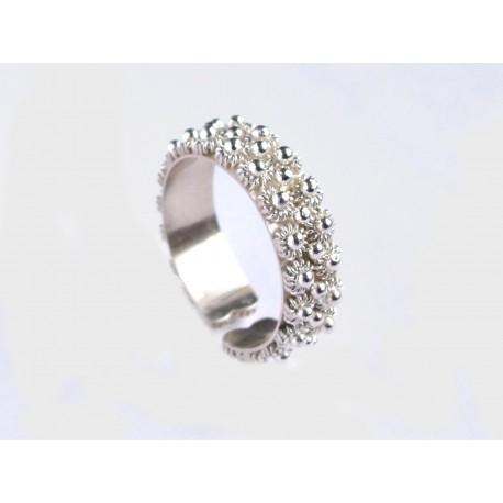 Fede sarda veretta argento lavorata interamente a mano. Due fili