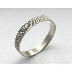 Sardinian gold 750% ring handmade. Rhodium plated