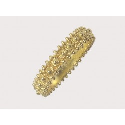 Sardinian wedding ring gold eternity