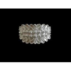 Anillo de plata de Cerdeña - dos cables frondoso