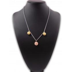 Collana in filigrana sarda - argento dorato e rosa