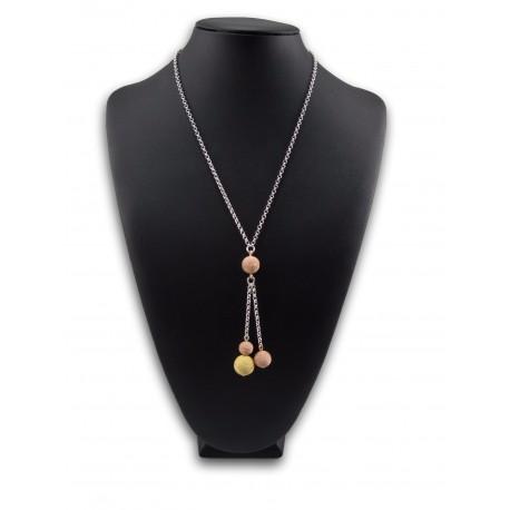 Collana argento dorato
