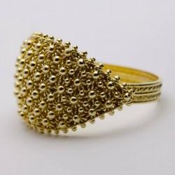El anillo de compromiso - Banda de Cerdeña, oro, 5 hilos