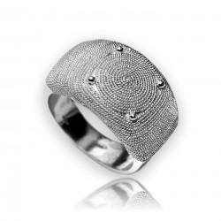 anillo de banda | filigrana de plata