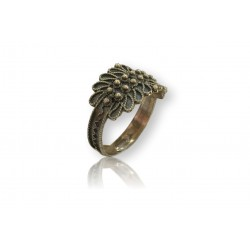 Sardinian ring - Burnished silver