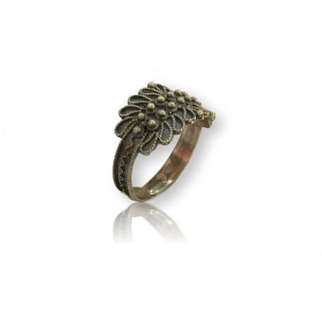 Cerdeña anillo - plata bruñida