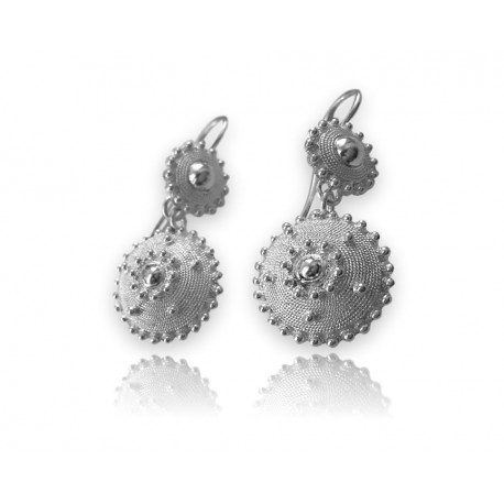 Earrings woman - Worked in filigree -