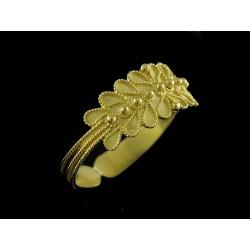 Anillo fede sarda en oro modelo frondoso, 1 alambre