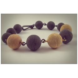 Sardinian filigree bracelet, burnished and golden
