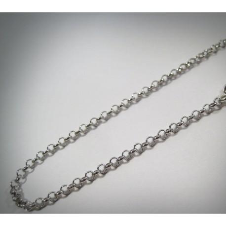 Catena in argento 925 maglia rolò
