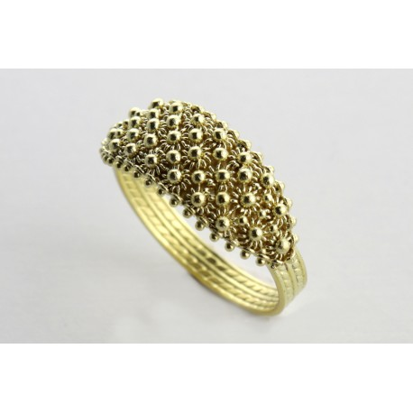 Sardinian jewellery gold ring filigree handmade
