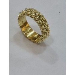 Eternity Sardinian Ring, yellow gold handmade