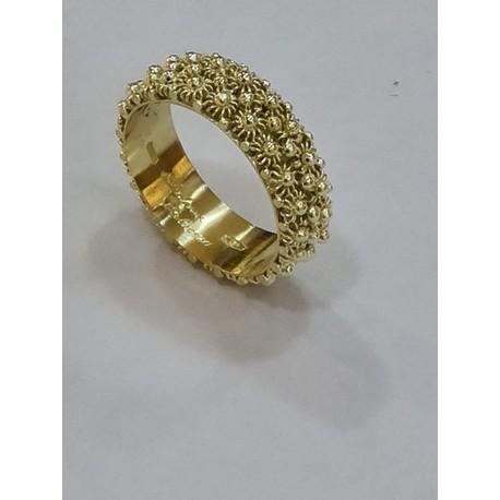 Eternity Sardinian Ring, yellow gold handmade