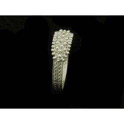 Sardinian filigree ring white gold rhodium plated wire 2