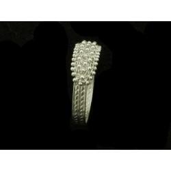 Anello Fede sarda in filigrana oro bianco rodiato fili 2