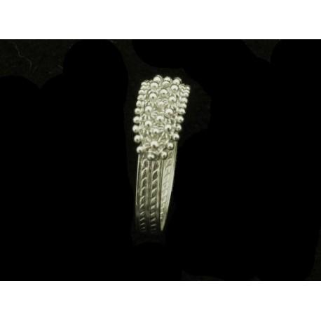 Anello Fede sarda in filigrana oro bianco fili 2