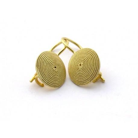 Orecchini oro filigrana sarda corbula a monachella