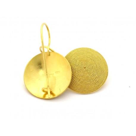 Filigrana sarda orecchini disco corbula oro 18 kt