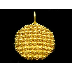 Pendant, hexagon, Sardinian filigree, honeycomb pattern, gold 750