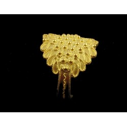 Filigrana plata dorada anillo de Cerdeña 5 hilos