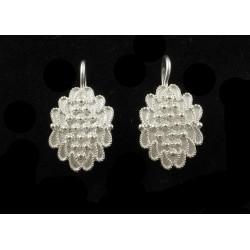 Orecchini sardi filigrana argento foglia piccoli monachella