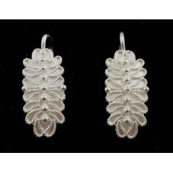 Orecchini filigrana argento pernio a foglia