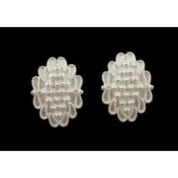 Pendientes, joyería de plata de filigrana sarda, pivote