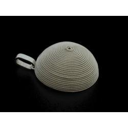 Ciondolo filigrana, corbula argento, lavorato a mano