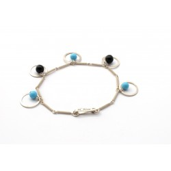 Sardinian filigree bracelet, onyx and turquoise