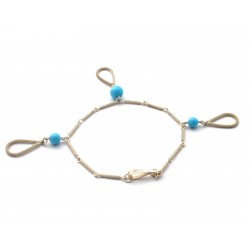 Bracelet with drops, Sardinian filigree, silver and turquoise